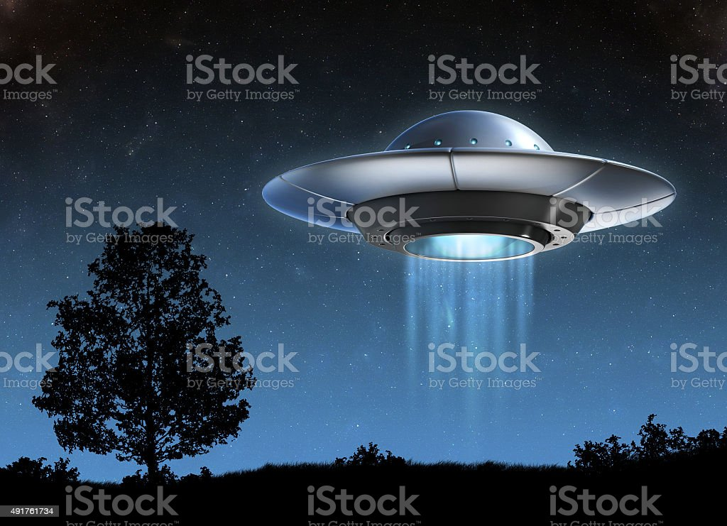 Alien nave espacial 3d illustration - foto de stock