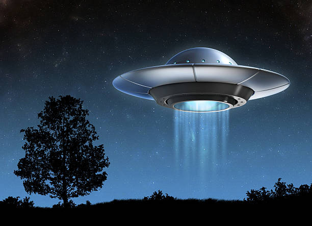 Alien spaceship 3d illustration stock photo