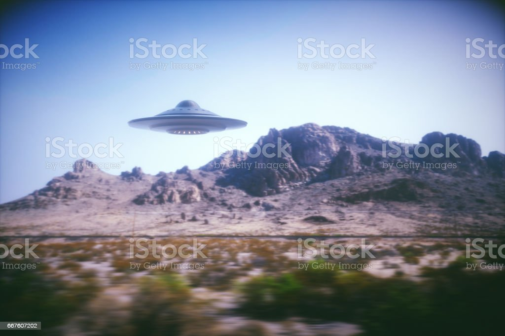 Alien Spaceship On Earth royalty-free stock photo
