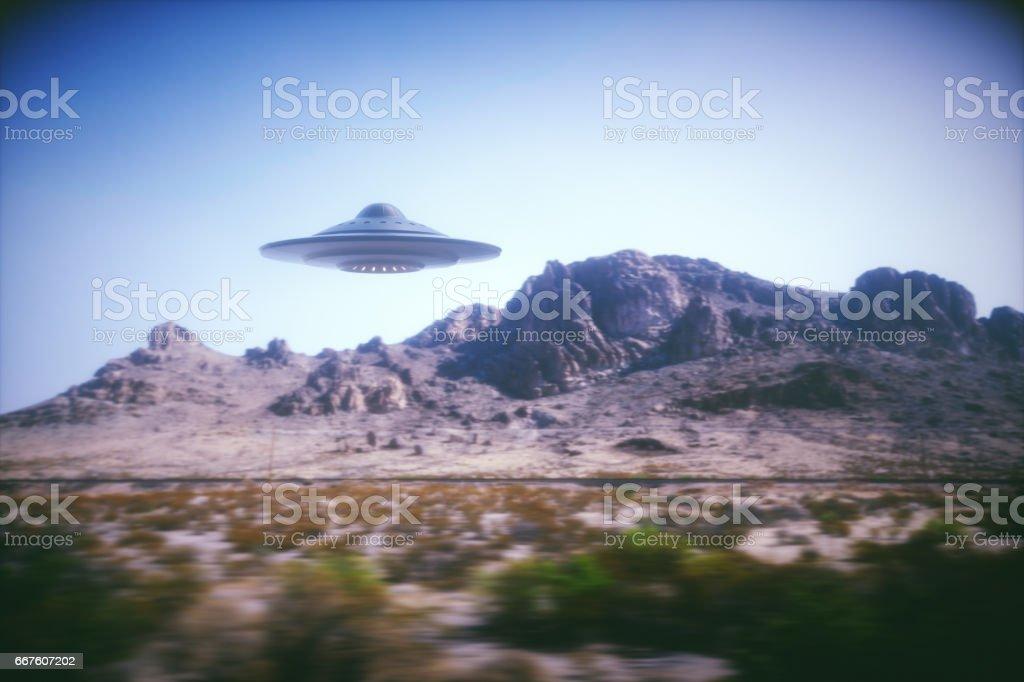 Außerirdisches Raumschiff auf der Erde – Foto