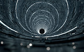 An alien structure tunnel in space