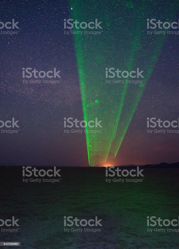 Alien Visitation in Nevada stock photo