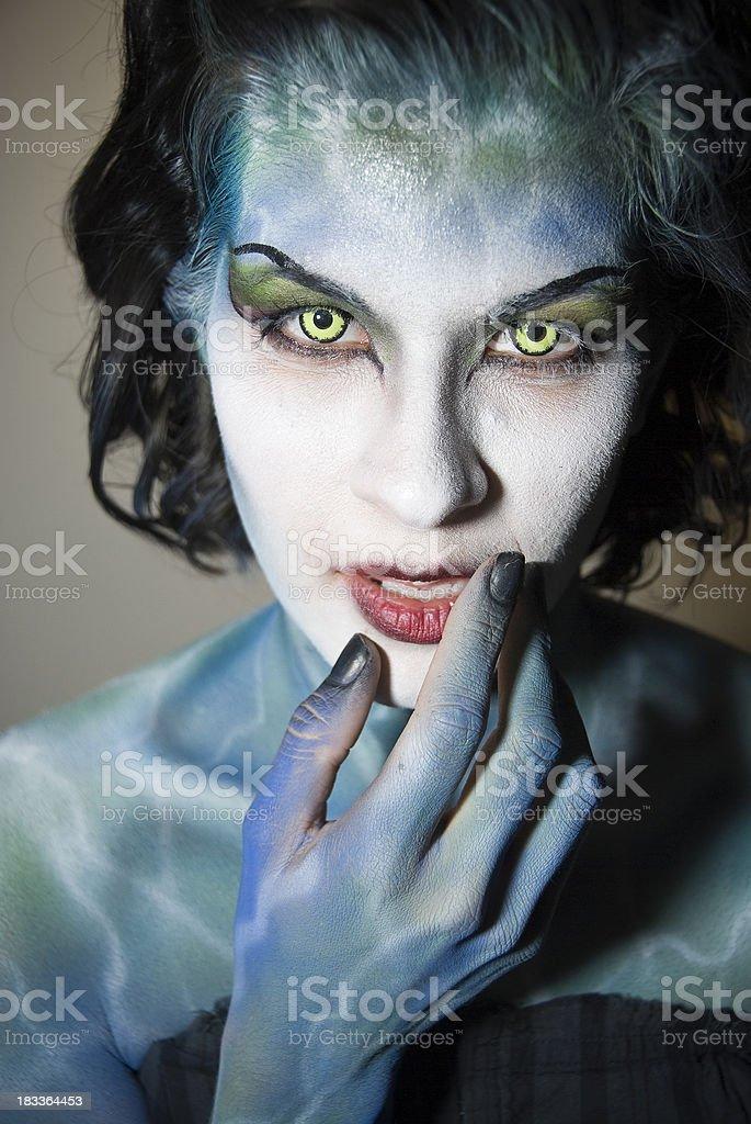 Alien Woman royalty-free stock photo
