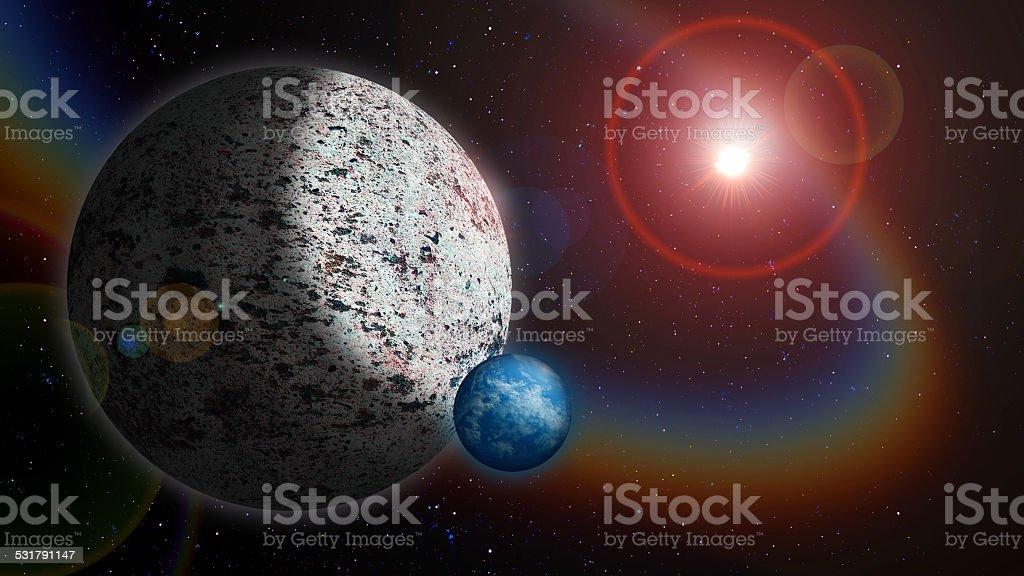 Alien World stock photo