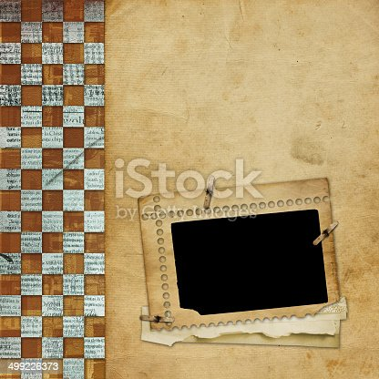istock Alienated frame for photo on the abstract background 499226373