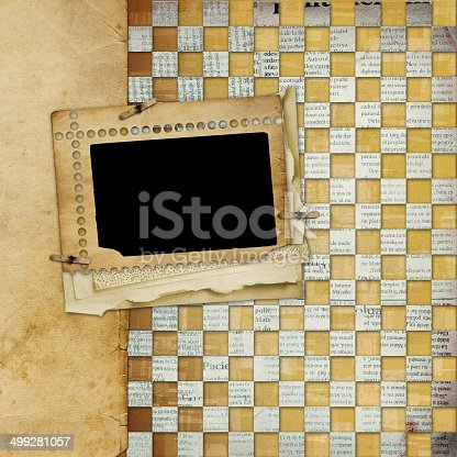 istock Alienated frame for photo on the abstract background 499281057