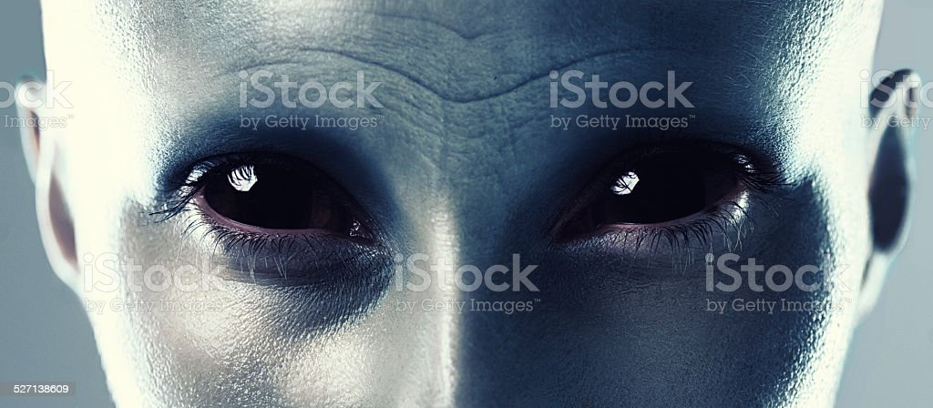 Aliens are within the human genes stock photo