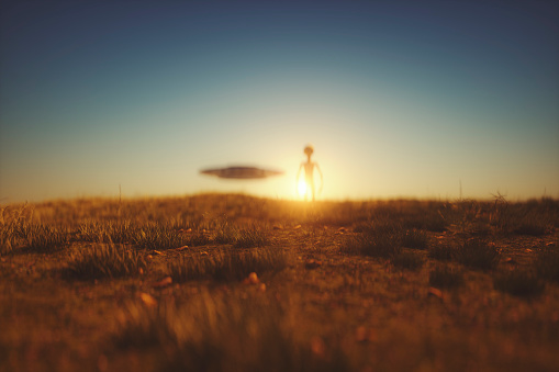 Aliens Have Landed Stock Photo - Download Image Now - iStock
