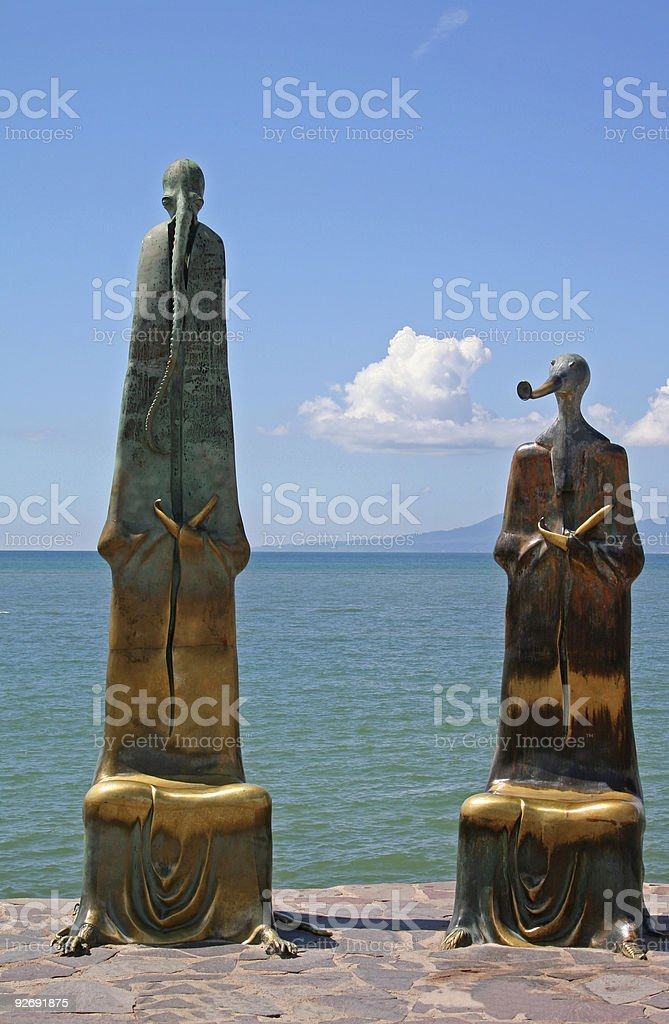Aliens in Puerto Vallarta stock photo
