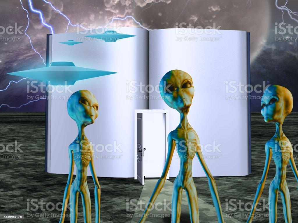 Aliens stock photo