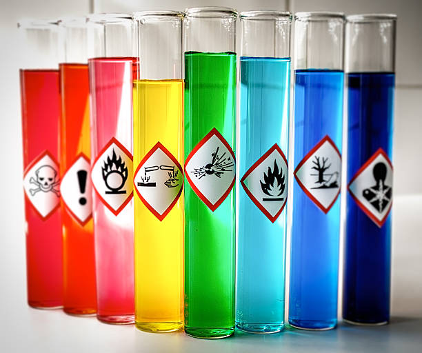 Abgestimmten chemischen Gefahr grafischen Symbolen-Explosive – Foto