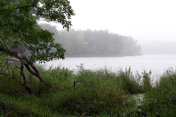 Alimagnet Lake in a Fog stock photo