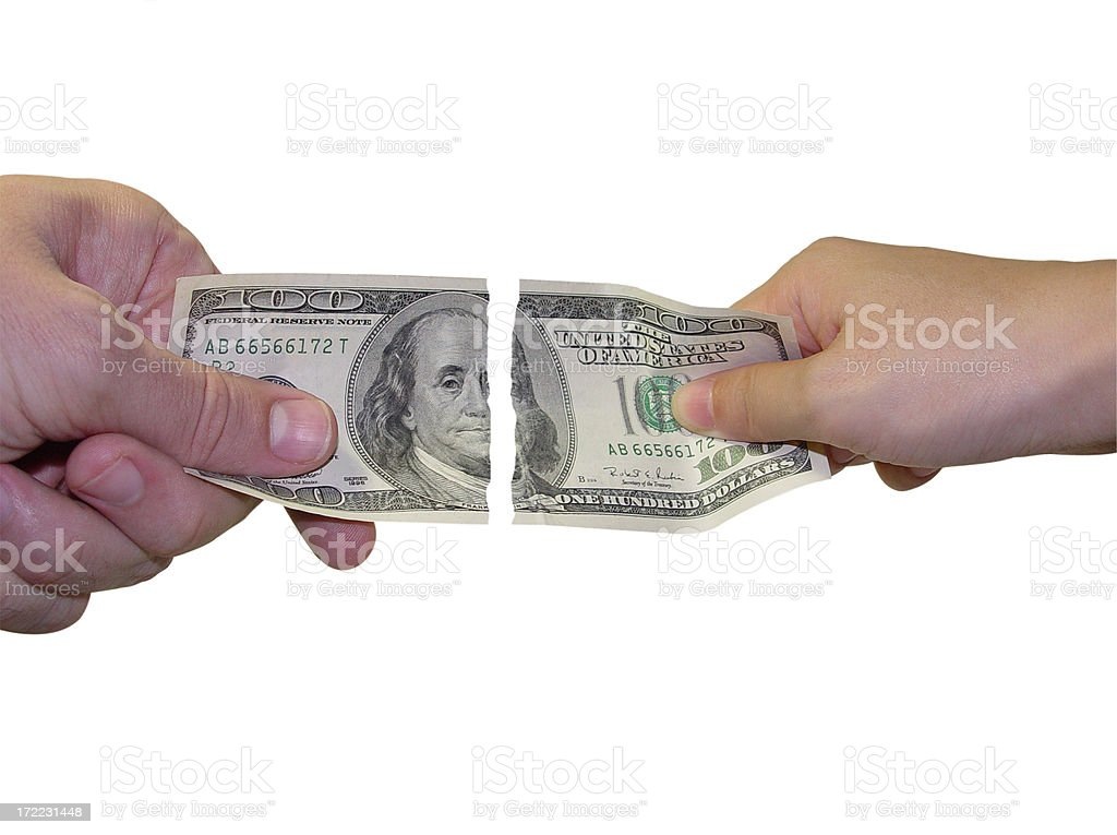 Alimony Divorce Settlement / Money Disputes royalty-free stock photo