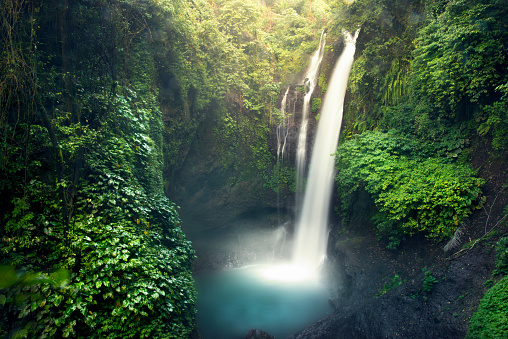 Aling Aling Waterfall Stock Photo - Download Image Now
