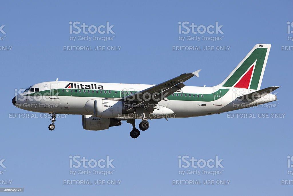 Alitalia Airbus A319 - foto stock