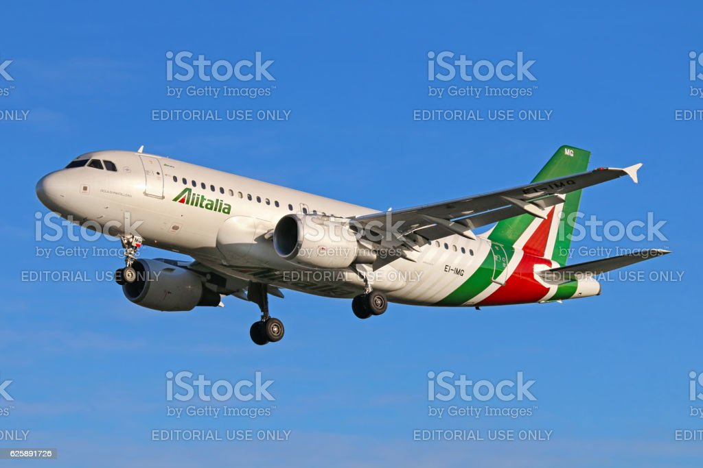Alitalia aircraft stock photo