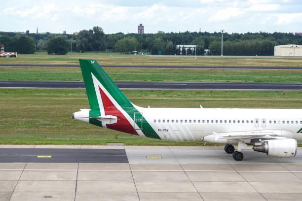 A Alitalia avião - foto de acervo