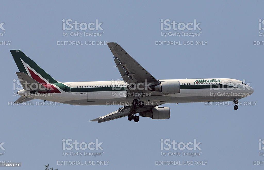 Alitalia Boeing 767 lungo Aereo jet - foto stock