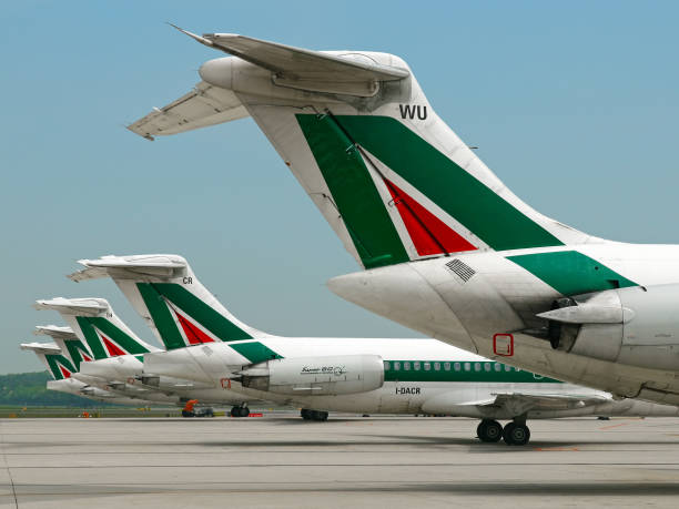 A Alitalia cauda - foto de acervo