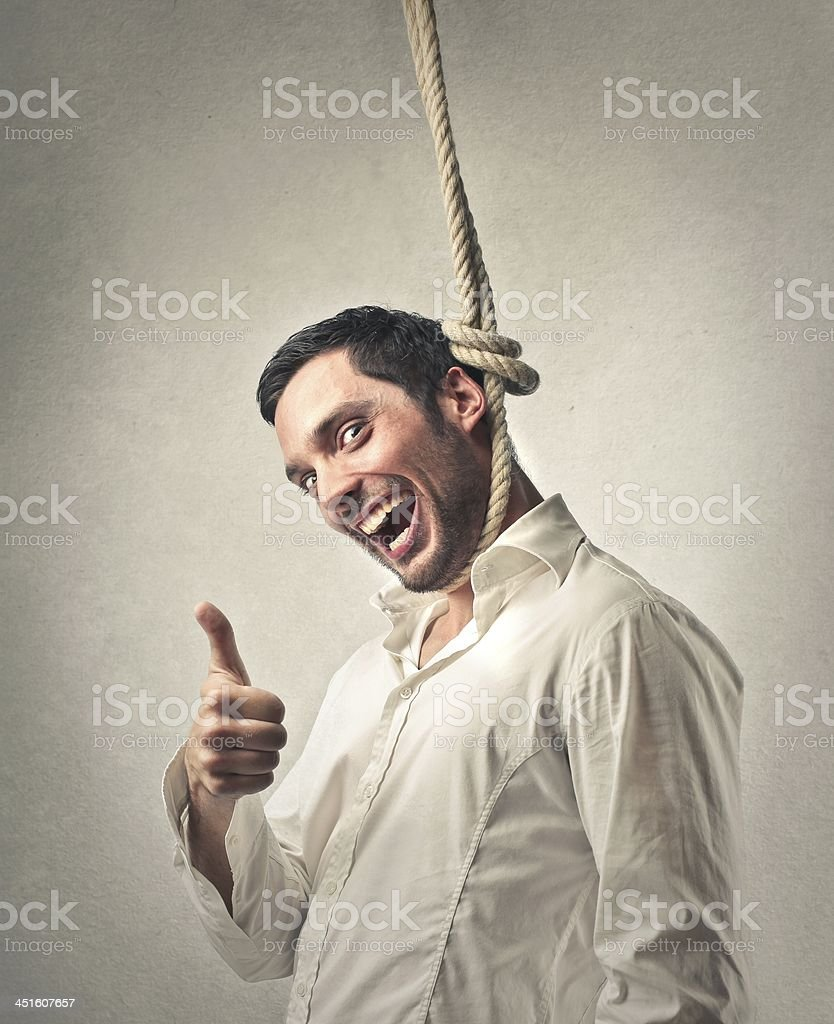 Alive after gallows stock photo