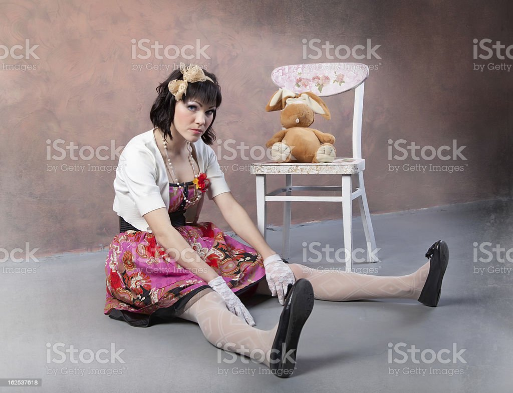 Alive doll royalty-free stock photo