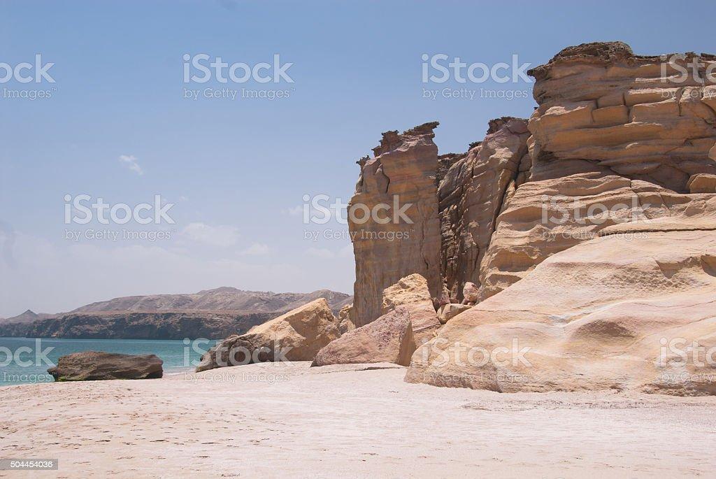 Al-jinz Beach - Oman stock photo