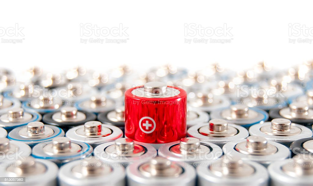 alkaline batteries AAA stock photo