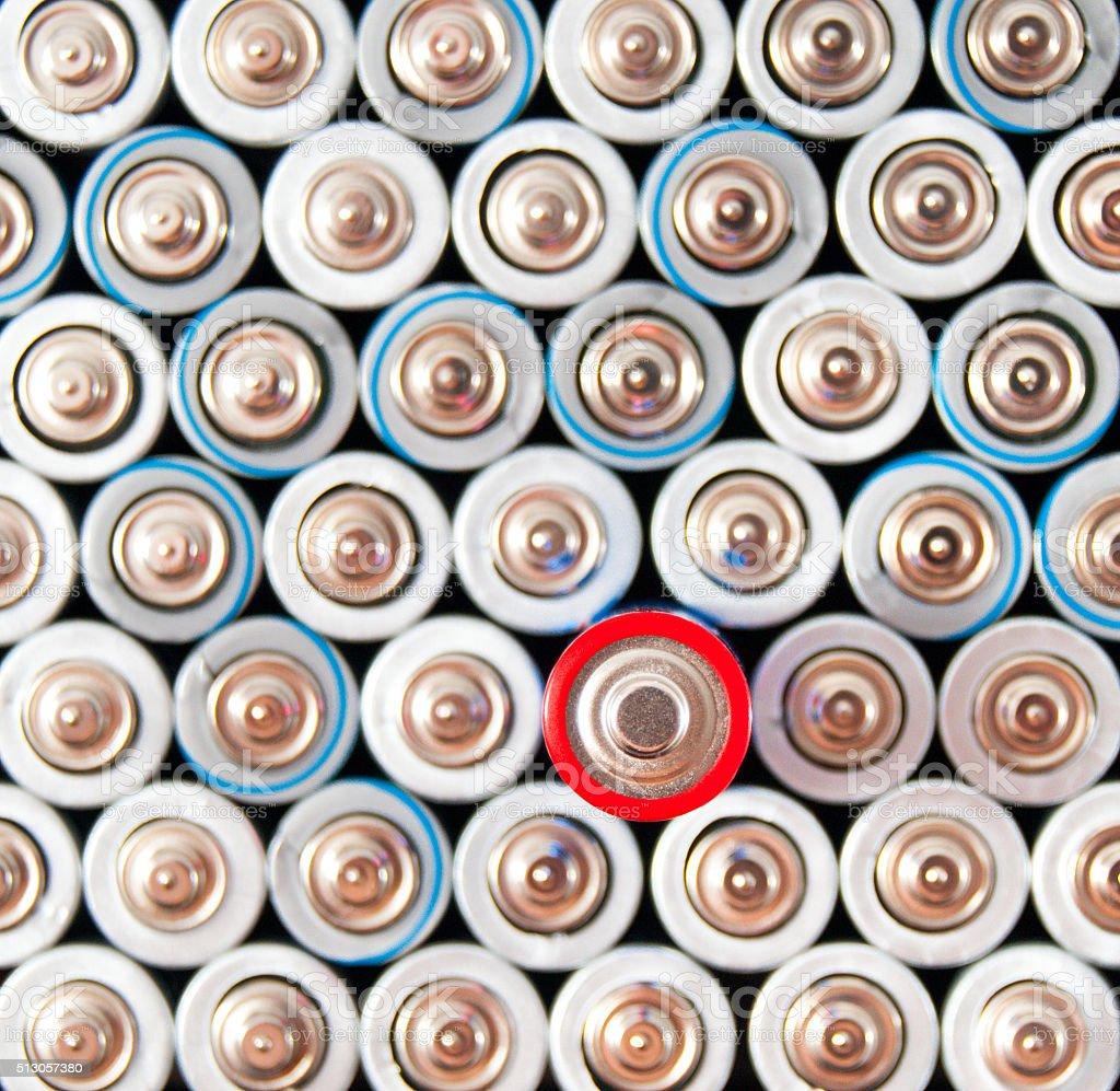 alkaline batteries AAA stock photo
