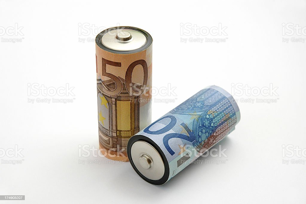 Alkaline Batteries - Cost of Energy II royalty-free stock photo