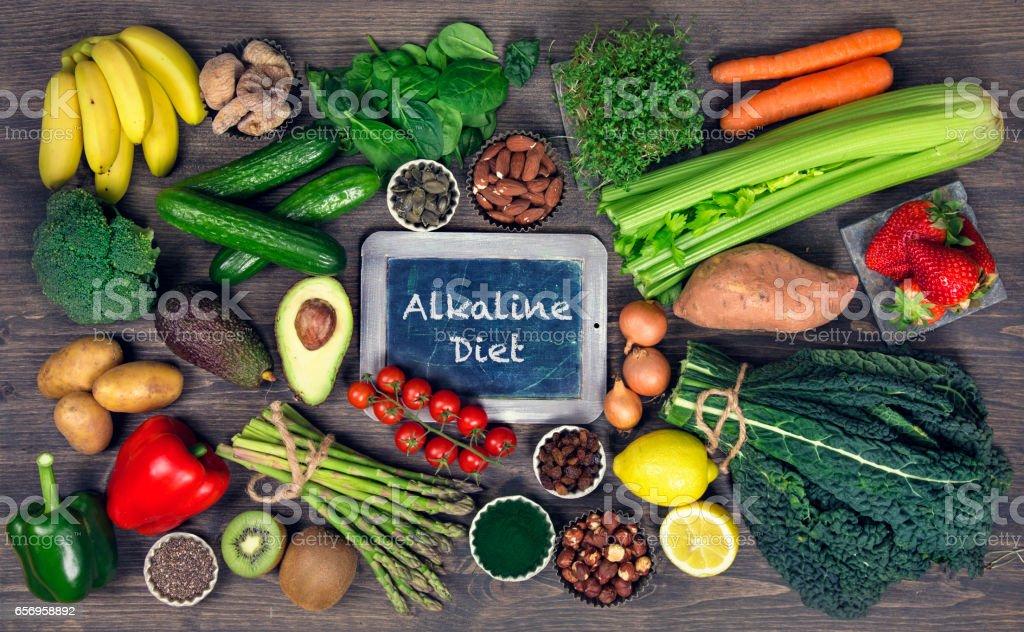 Alkaline foods stock photo
