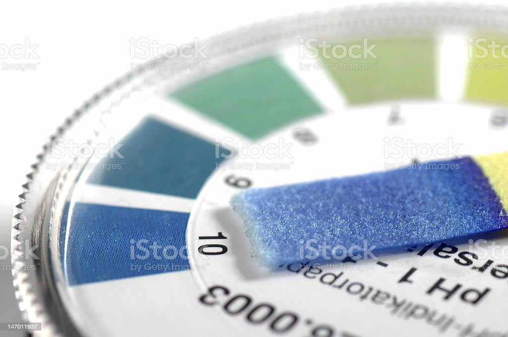 Alkaline Testing stock photo