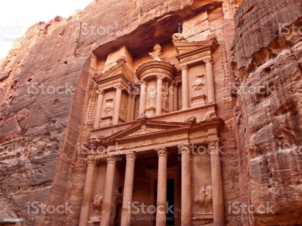 Al-Khazneh at Petra stock photo
