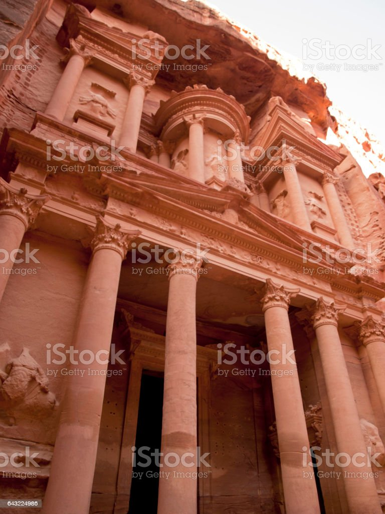 Al-Khazneh at Petra stock photo