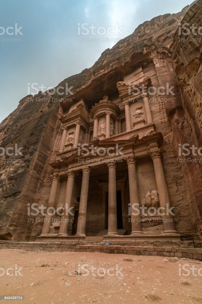 Al-Khazneh, The Treasury in Petra stock photo