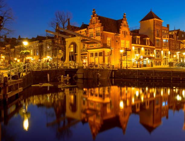 Alkmaar by Night stock photo