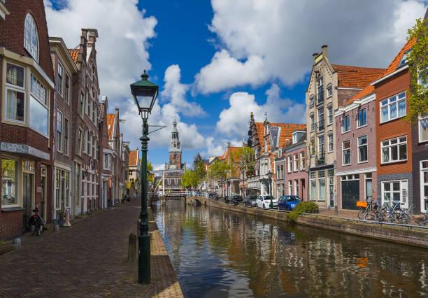 Alkmaar cityscape - Netherlands stock photo