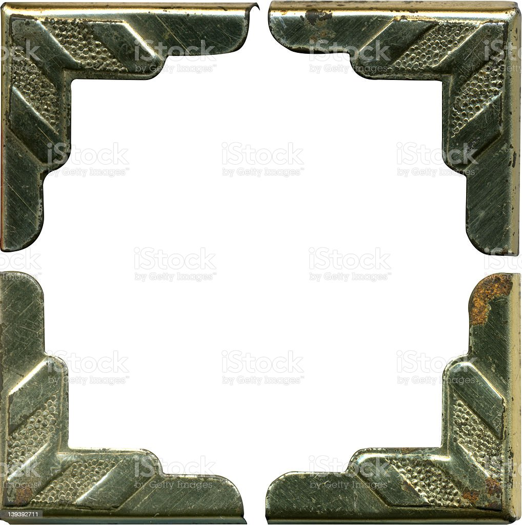 All 4 Corners Antique metal royalty-free stock photo