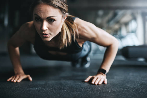 all about that gym life - push up stock photos and pictures