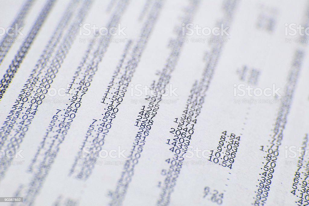 All about the numbers royalty-free stock photo