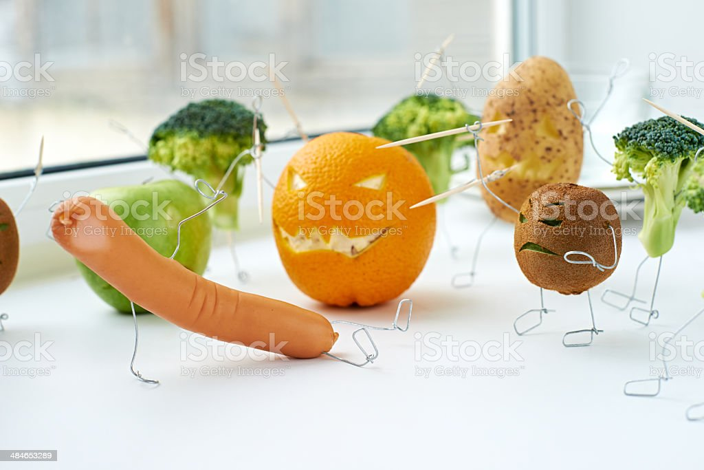All against meat royalty-free stock photo