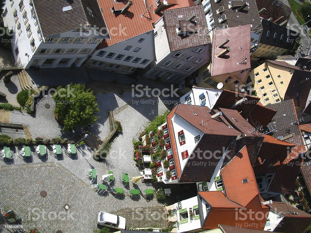 All along the Church Tower royalty-free stock photo