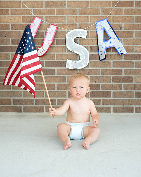 All American Baby stock photo