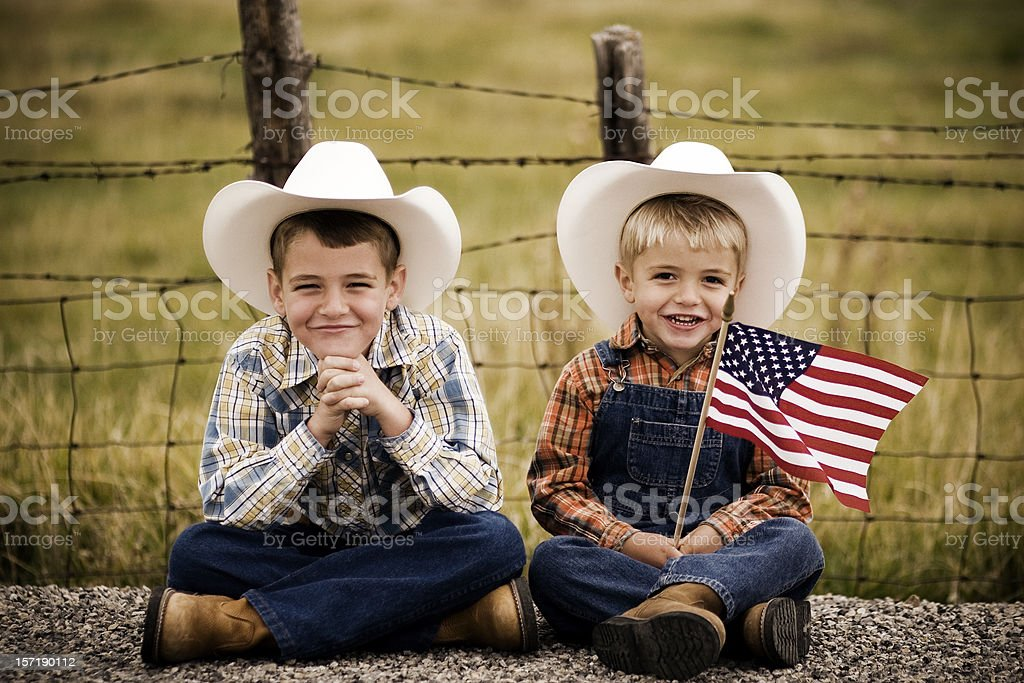 All American Boys stock photo
