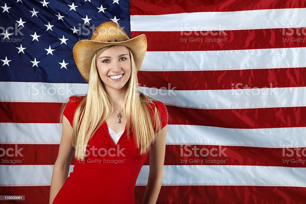 All American Country Girl stock photo