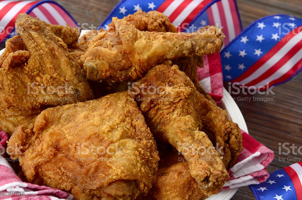 All American Fried Chicken royalty-free stock photo