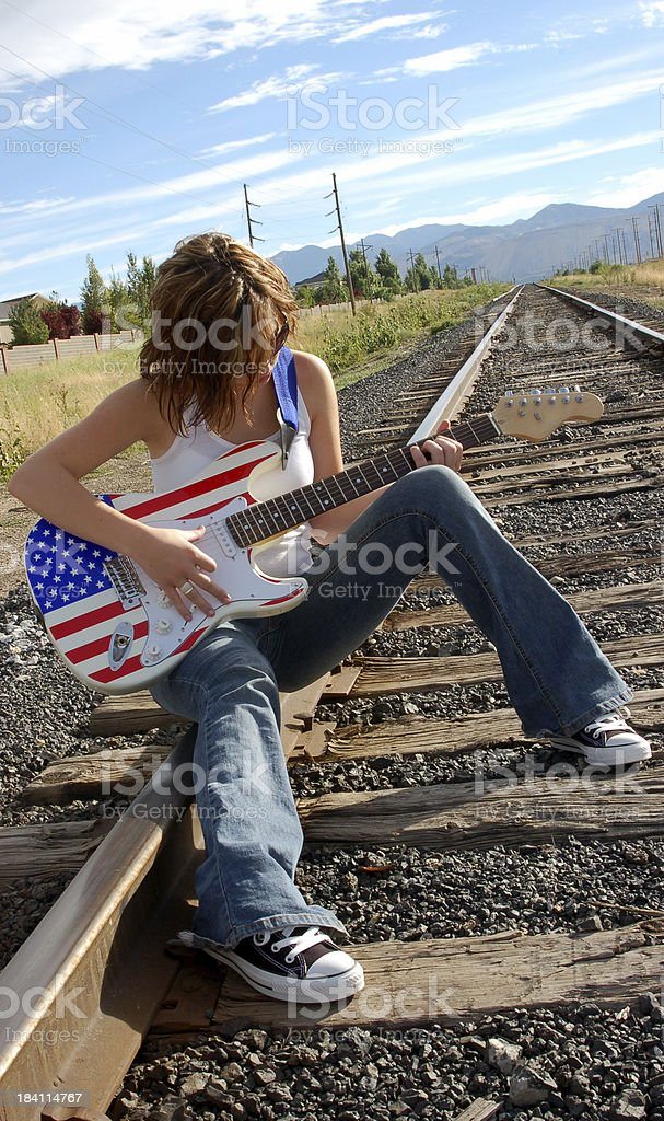 All american girl stock photo