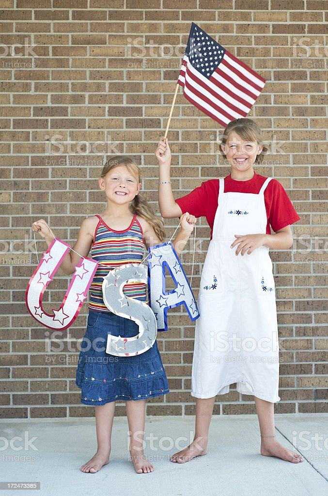 All American Girls royalty-free stock photo