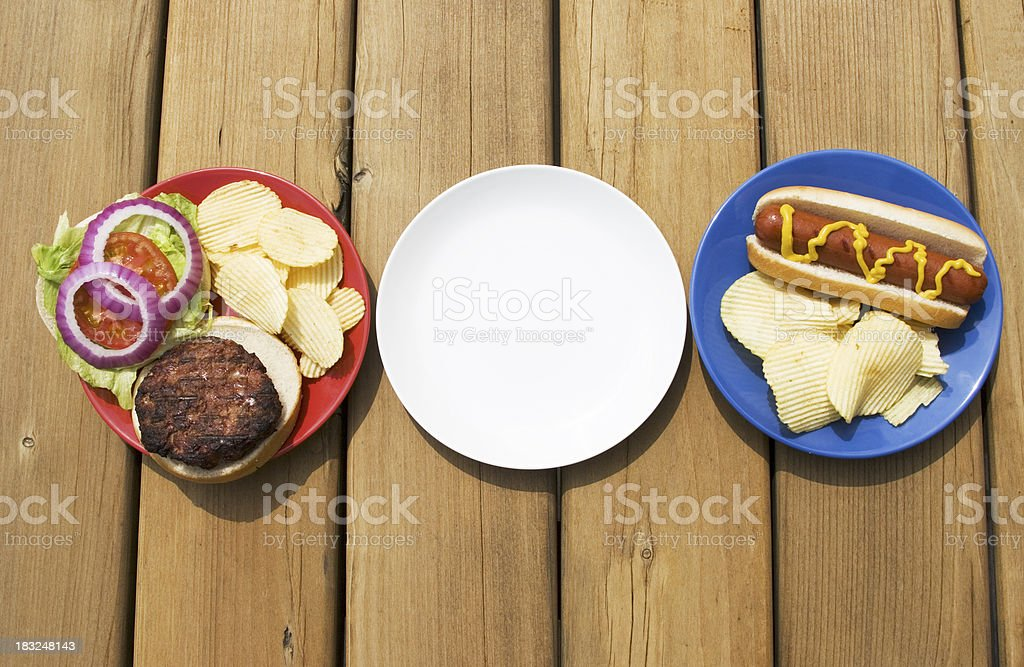 All American Meal royalty-free stock photo