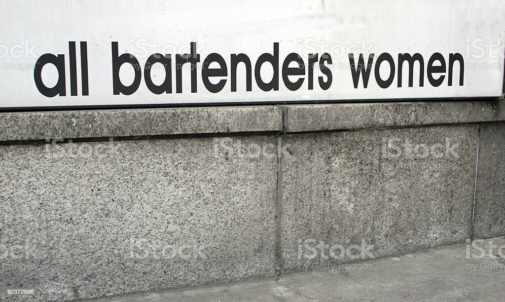 All bartenders women royalty-free stock photo