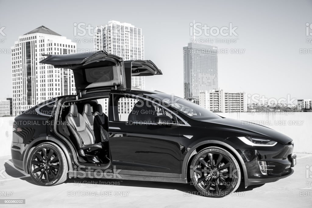 All Black Tesla Model X In Austin Texas Stock Photo More Pictures